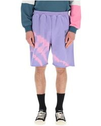 Aries Tie-dye shorts - Violet