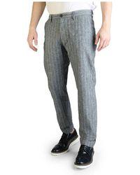 Yes-Zee P682_un00 Trousers - Grijs