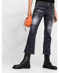 DSquared² Distressed Flared Jeans Negro