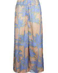 White Sand Hose mit floralem - Azul