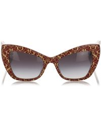 Dolce & Gabbana Cat Eye Tinted Sunglasses - Bruin