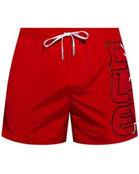 DSquared² Swim shorts with logo - Rouge