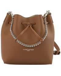 Lancaster Small Bucket Bag - Marron