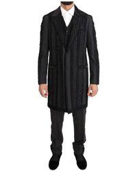 Dolce & Gabbana Wool Silk Torero Long 3 Piece Suit - Schwarz