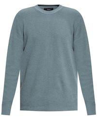 Theory Ribbed Sweater - Blauw
