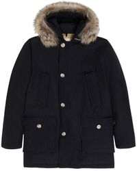 Woolrich Arctic Parka With Removable Fur - Zwart