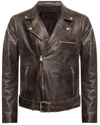 AllSaints Hank Leather Jacket - Bruin