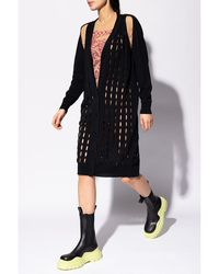 DIESEL Cardigan with cut-outs Negro