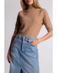 Holzweiler Sweater with short sleeves - Marron