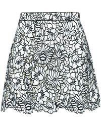 Self-Portrait Mini Skirt - Zwart