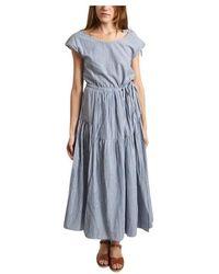Bellerose Pasua Striped Long Dress - Blauw