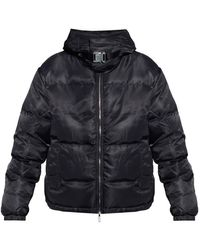 1017 ALYX 9SM Hooded Puffer Jacket - Zwart