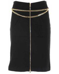 Moschino Iconic Charms Skirt - Zwart