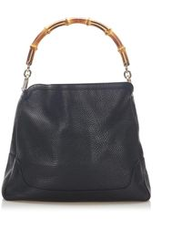 Gucci Bamboo Satchel Leather Calf - Zwart