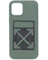 Off-White c/o Virgil Abloh Iphone 12 Pro Case - Groen