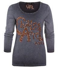 MARC AUREL T-shirt Lange Mouw - Grijs