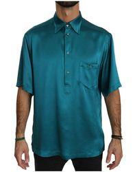 Dolce & Gabbana - Shirt Met Korte Mouwen 100% Zijde Top Shirt - Lyst