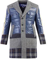 Junya Watanabe Patchwork Coat - Blauw