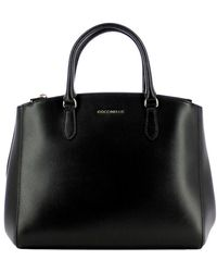 Coccinelle Sortie Leather Handbag - Zwart