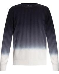 Theory Textured Sweater - Blauw