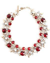Oscar De La Renta Vintage Collier rubis - Rouge
