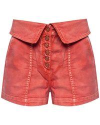 Ulla Johnson High-waisted Denim Shorts - Oranje