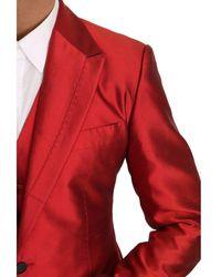 Dolce & Gabbana Slim Fit 3 piezas traje de dos botones Rojo