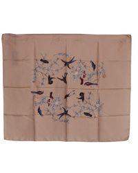 Dolce & Gabbana Silk Bird Print Wrap Scarf - Naturel