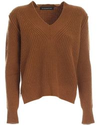 Department 5 V Neck Sweater - Marron