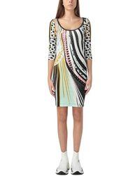 Just Cavalli Abstract Fish Dress - Vert