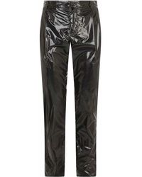 Dolce & Gabbana High-shine Slim-fit Trousers - Zwart
