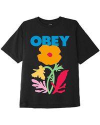 Obey No future for apathy heavyweight t-shirt - Schwarz
