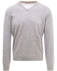 Brunello Cucinelli Sweater m2q00162 - Grigio