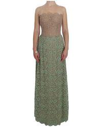 Dolce & Gabbana Bloemen Corset Maxi Jurk - Groen