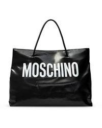 Moschino Tote Bag With Logo - Zwart