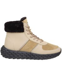 Giuseppe Zanotti - Urchin Sneakers In Leather With Shearling Edge - Lyst