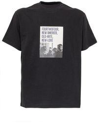 424 T-shirt With Print - Zwart