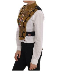 Dolce & Gabbana Chaqueta de chaleco cruzado Amarillo
