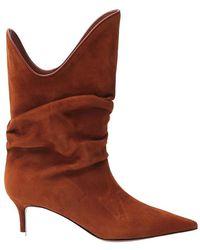 The Attico Pointed Toe Boots - Bruin