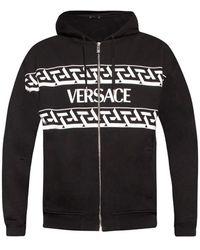 Versace Logo-printed Hoodie - Zwart