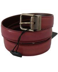 Dolce & Gabbana Leather Belt - Rood