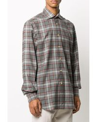 Kiton Ong-sleeve shirt Gris