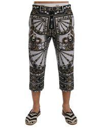 Dolce & Gabbana Dragon Capri Broek - Grijs