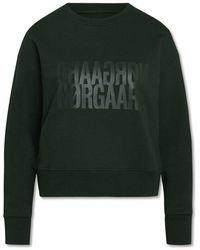 Mads Nørgaard Tilvina Organic Sweatshirt Scarab - Groen