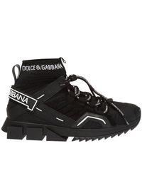 Dolce & Gabbana 'sorrento' Sok Sneakers - Zwart