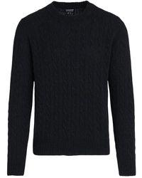 Woolrich Cable Sweater - Zwart