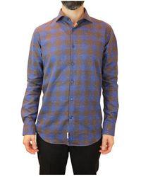 Holubar Slim Italian Collar Shirt 58 - Blauw
