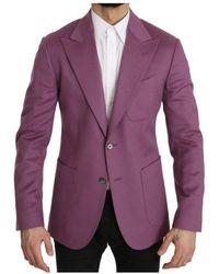 Dolce & Gabbana Cashmere Blazer - Paars