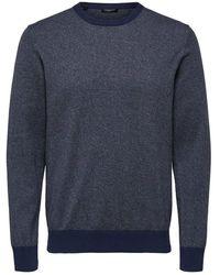 SELECTED Sweater Gemêleerde - Blauw