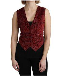 Dolce & Gabbana Brocade Vest - Rood
